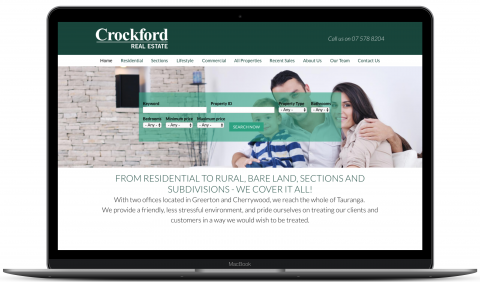 Crockford Real Estate - website by Millionleaves