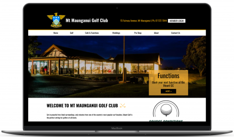 Mount Golf Club - website by Millionleaves