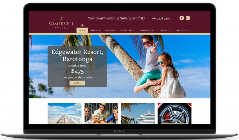 Somervell Travel - website by Millionleaves