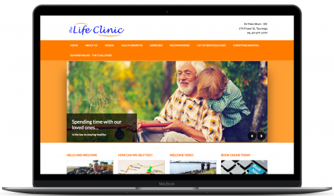 The Life Clinic - WordPress web development and hosting by Millionleaves